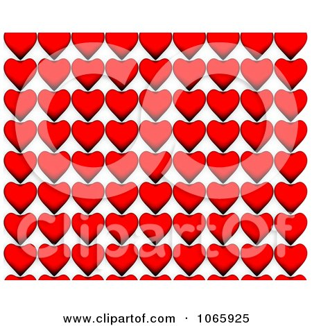 Clipart Red Heart Rows - Royalty Free CGI Illustration by chrisroll