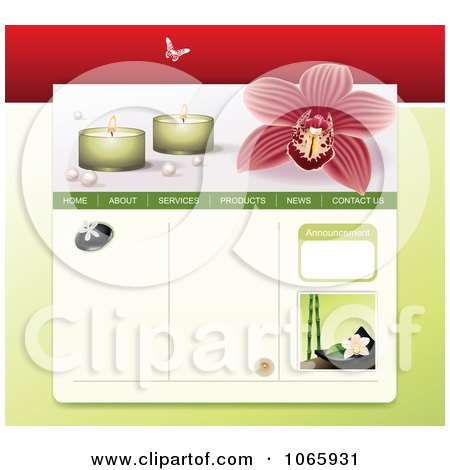 Clipart Spa Website Template 2 - Royalty Free Vector Illustration  by Eugene