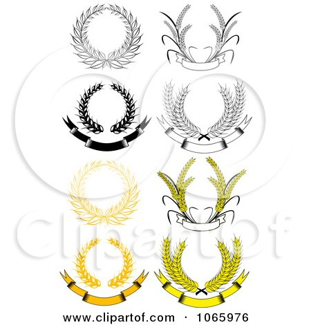 Clipart Laurel Wreaths 7 - Royalty Free Vector Illustration by Vector Tradition SM