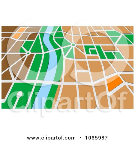 Clipart GPS Map 5 - Royalty Free Vector Illustration by Vector Tradition SM