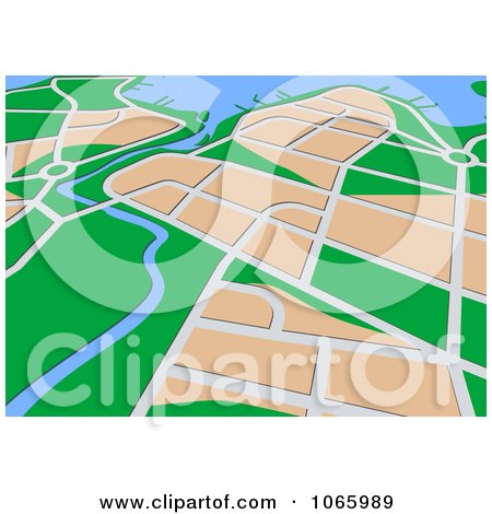 Clipart GPS Map 2 - Royalty Free Vector Illustration by Vector Tradition SM