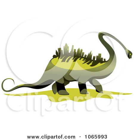 Clipart Dinosaur With A Skyscraper Spine - Royalty Free Vector Illustration by Vector Tradition SM