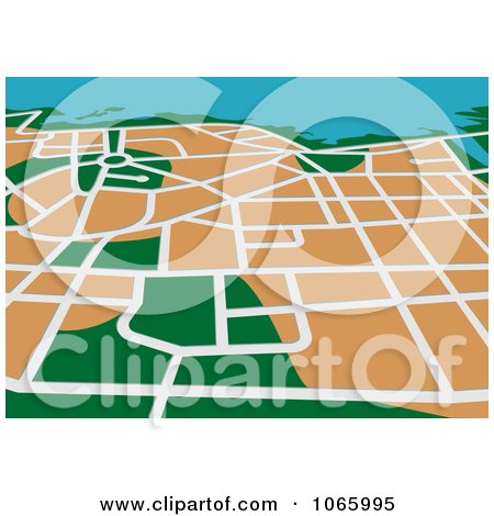 Clipart GPS Map 3 - Royalty Free Vector Illustration by Vector Tradition SM