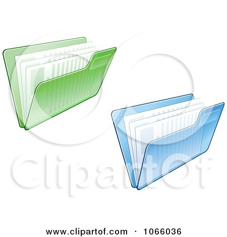 Clipart Transparent File Folders And Documents - Royalty Free Vector Illustration by Vector Tradition SM