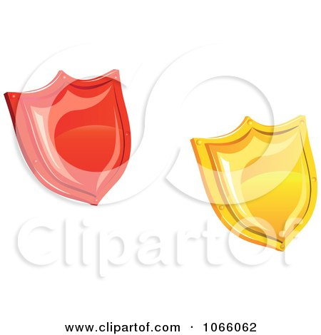 Clipart 3d Shields - Royalty Free Vector Illustration by Vector Tradition SM