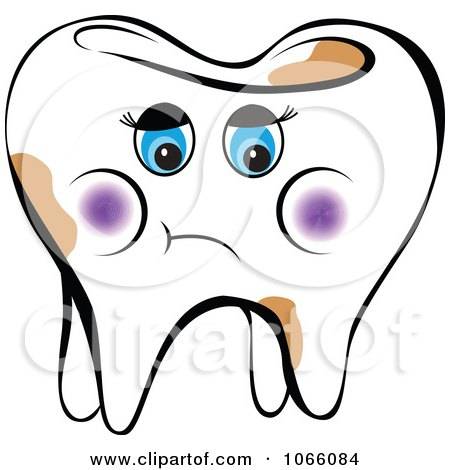 Clipart Sad Female Tooth Royalty Free Vector Illustration By