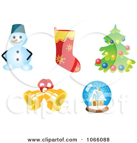 Clipart Christmas Icons 8 - Royalty Free Vector Illustration by Vector Tradition SM