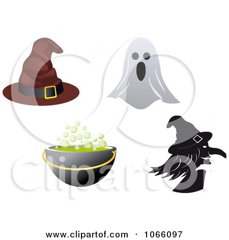 Clipart Halloween Icons 3 - Royalty Free Vector Illustration by Vector Tradition SM