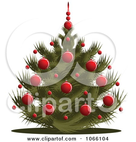 Clipart Short Christmas Tree - Royalty Free Vector Illustration by Vector Tradition SM