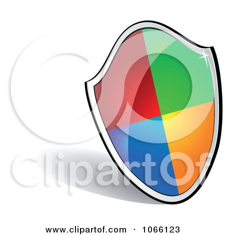 Clipart 3d Colorful Shield - Royalty Free Vector Illustration by Vector Tradition SM