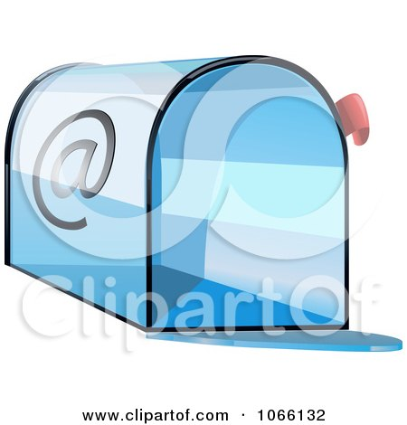 Clipart 3d Blue Email Box - Royalty Free Vector Illustration by Vector Tradition SM