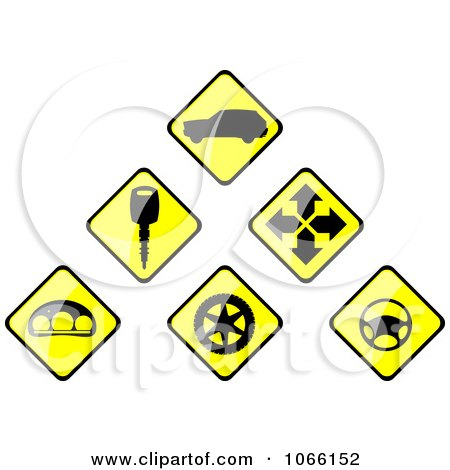 Automotive Sign Icons Posters, Art Prints