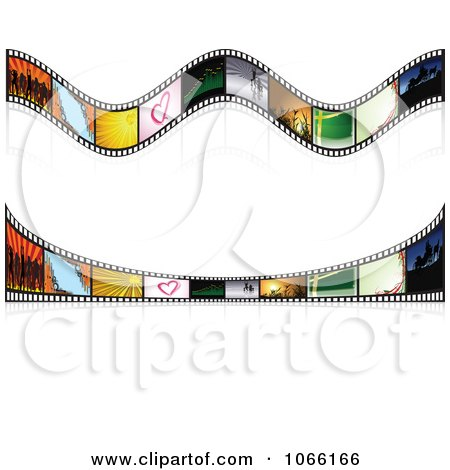 Clipart Two Film Strip Rules - Royalty Free Vector Illustration by dero