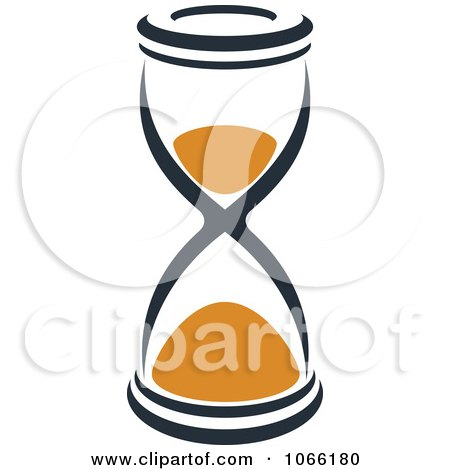 Clipart Orange And Black Hourglass 6 - Royalty Free Vector Illustration by Vector Tradition SM