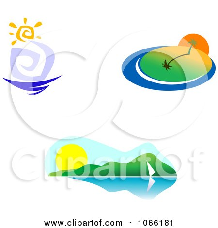 Clipart Summer Landscapes - Royalty Free Vector Illustration by Vector Tradition SM