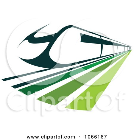 Clipart Green Train - Royalty Free Vector Illustration by Vector Tradition SM