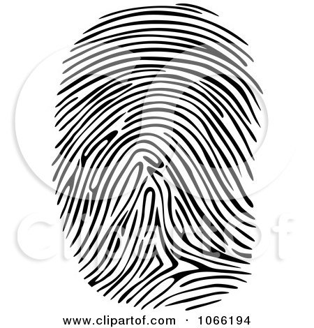 Clipart Thumb Print - Royalty Free Vector Illustration by Vector Tradition SM