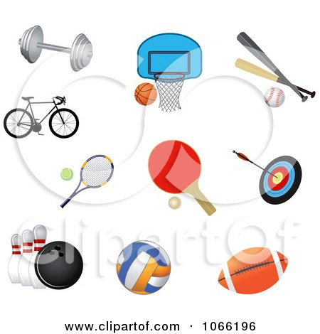 Clipart Sports Icons - Royalty Free Vector Illustration by Vector Tradition SM