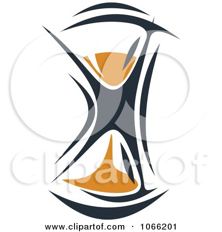 Clipart Orange And Black Hourglass 4 - Royalty Free Vector Illustration by Vector Tradition SM