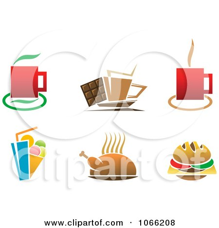 Clipart Beverage And Food Logos - Royalty Free Vector ...  Clipart Beverag...
