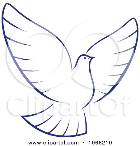 Clipart Flying Dove 1 - Royalty Free Vector Illustration by Vector Tradition SM