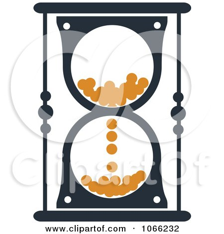 Clipart Orange And Black Hourglass 8 - Royalty Free Vector Illustration by Vector Tradition SM
