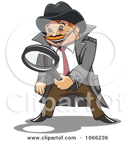 Clipart Investigator Inspecting - Royalty Free Vector Illustration by Vector Tradition SM