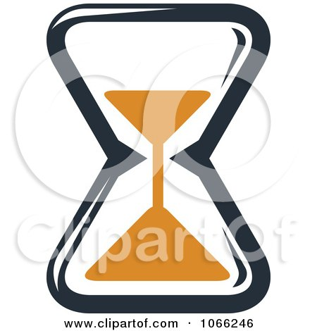 Clipart Orange And Black Hourglass 3 - Royalty Free Vector Illustration by Vector Tradition SM