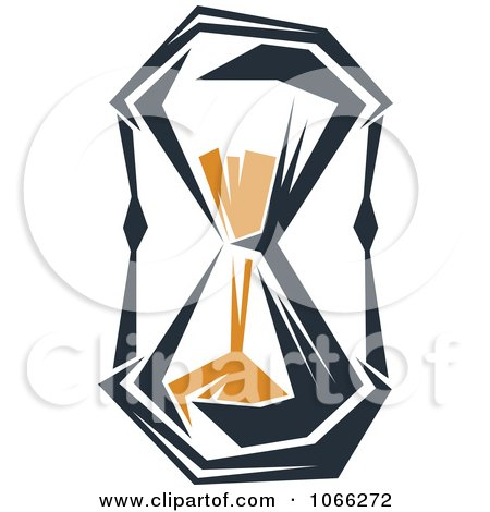 Clipart Orange And Black Hourglass 5 - Royalty Free Vector ...