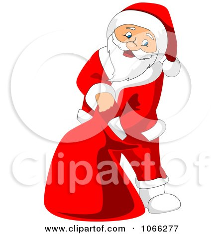 Clipart Santa Reaching Into His Sack - Royalty Free Vector Illustration by Vector Tradition SM