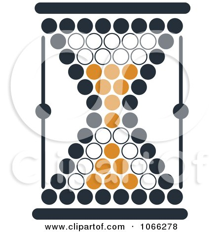 Clipart Orange And Black Hourglass 7 - Royalty Free Vector Illustration by Vector Tradition SM