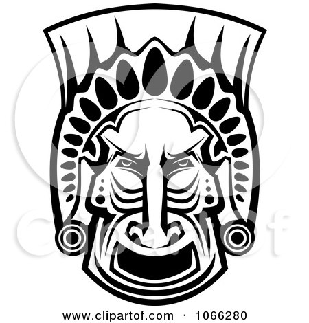 Posters Print on Poster  Art Print  Black And White African Tribal Mask By Seamartini