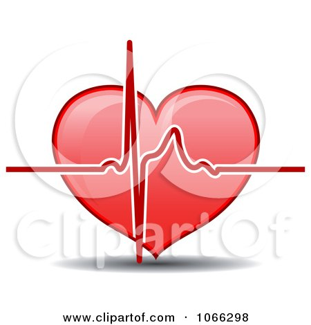 Clipart Heart And Beat - Royalty Free Vector Illustration by Vector Tradition SM