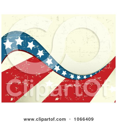 Clipart Background Of American Grunge 2 - Royalty Free Vector Illustration by Pushkin