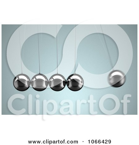 Clipart 3d Rocking Newtons Cradle - Royalty Free CGI Illustration by stockillustrations