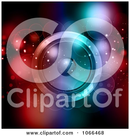 Clipart Orbs And A Music Speaker With Colorful Lights - Royalty Free Vector Illustration by KJ Pargeter