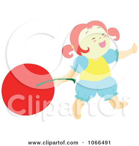 Clipart Irish Girl With A Cherry 3 - Royalty Free Vector Illustration by Cherie Reve