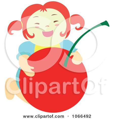 Clipart Irish Girl With A Cherry 5 - Royalty Free Vector Illustration by Cherie Reve
