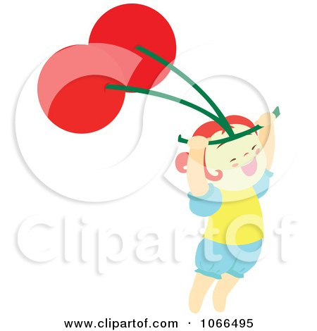 Clipart Irish Girl With A Cherry 7 - Royalty Free Vector Illustration by Cherie Reve