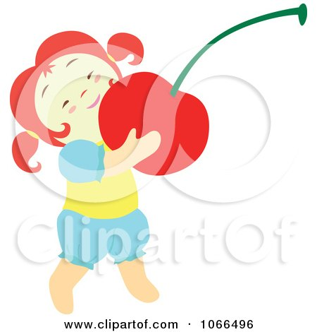 Clipart Irish Girl With A Cherry 2 - Royalty Free Vector Illustration by Cherie Reve