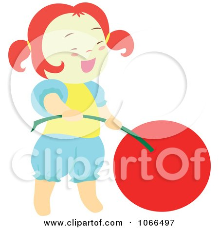Clipart Irish Girl With A Cherry 6 - Royalty Free Vector Illustration by Cherie Reve
