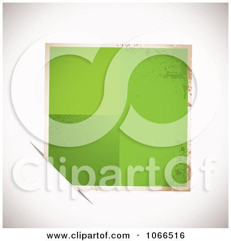 Clipart Grungy Green Tag In A Slot - Royalty Free Vector Illustration by michaeltravers
