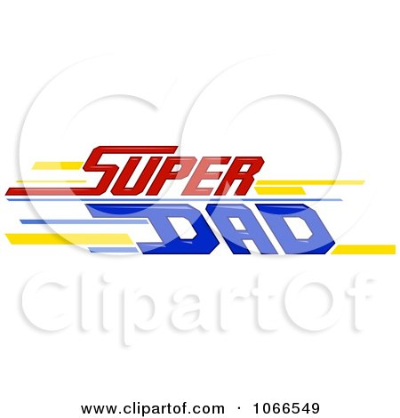Clipart Super Dad Sign - Royalty Free Vector Illustration by BNP Design Studio