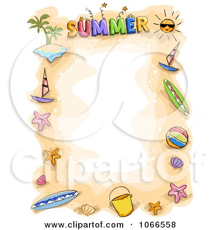 Royalty Free Rf Summer Border Clipart Illustrations