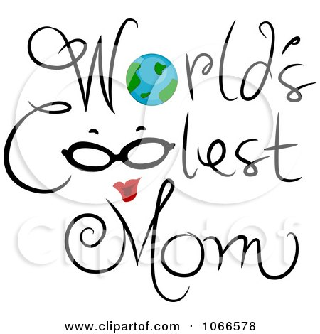 Clipart Worlds Coolest Mom Sign - Royalty Free Vector Illustration by BNP Design Studio