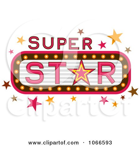 Clipart Super Star Marquee Sign - Royalty Free Vector Illustration by BNP Design Studio