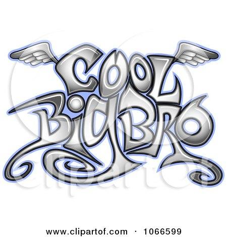 Clipart Cool Big Bro Sign - Royalty Free Vector Illustration by BNP Design Studio