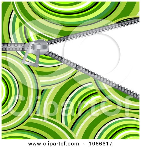 Clipart Green Circle Pattern And Revealing Zipper - Royalty Free Vector Illustration by Vector Tradition SM