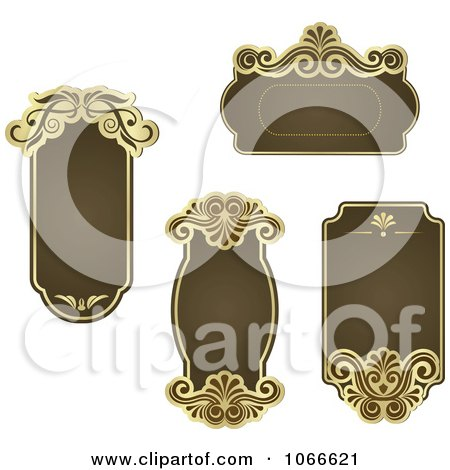 Clipart Brown Victorian Frames - Royalty Free Vector Illustration by Vector Tradition SM
