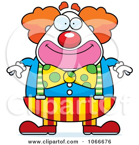 Clipart Pudgy Circus Clown - Royalty Free Vector Illustration by Cory Thoman